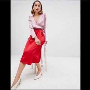 ASOS purchased (Warehouse) Wrap Dress NEW US sz 14
